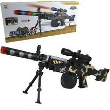 KIDS LARGE GPMG TOY GUN WITH LIGHTS SOUND MACHINE GUN BOYS ARMY ROLE PLAY