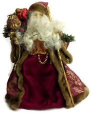 Old world magical decorative standing santa claus figure Christmas decor