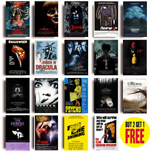 CLASSIC HORROR MOVIE POSTERS A4 Size Photo Print Film Cinema Wall Decor Fan Art