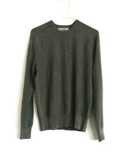 Rag & bone Lance Crew Green Cotton Long Sleeve Sweater Men's SMALL $250
