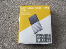 WD My Passport 256GB SSD Portable Storage USB 3.1 Black-Gray WDBK3E2560PSL-WESN