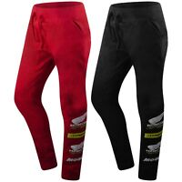 New Men Honda Racing Jogger Pants Slim Fitted Black Red Sizes S-2XLElastic Waist