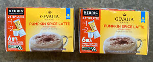 Gevalia Kaffe Pumpkin Spice Latte Keurig K Cup 2 Boxes 6 Pods  Exp. 7/13/21