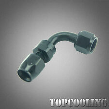 Black AN8 8AN 90 Degree Swivel Hose End Fitting Adapter Aluminum