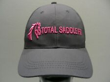 TOTAL SADDLE FIT - GRAY - ADJUSTABLE STRAPBACK BALL CAP HAT!