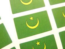 New listing Mini Sticker Pack, Self-Adhesive Mauritania Flag Labels, Fr179