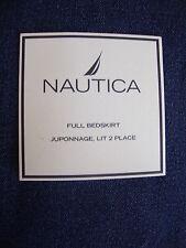 New Nautica Lakeshore Denim Full Bed Skirt