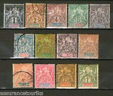 OCEANIE - 1892 YT 1 à 13 complète - neufs* et obl.