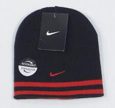 Nike Reversible Black & Red Knit Beanie Skull Cap Youth Boys 4-7 NWT