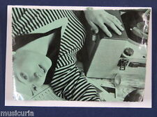 ac~ handmade greetings / birthday card 1960S GIRL WITH RECORD PLAYER