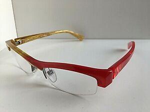 New ALAIN MIKLI AL0832 AL 0832 0003 48mm Red Yellow Eyeglasses Frame