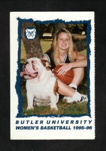 Butler Bulldogs--1995-96 Basketball Pocket Schedule