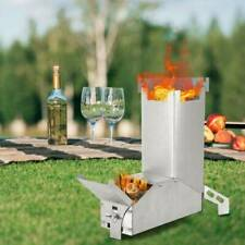 Camping Stove Collapsible Wood Burning Rocket Stove Outdoor BBQ Camp Stove USA