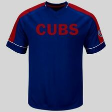 Chicago Cubs Lead Hitter Cool Base Baseball Jersey Royal Plus Sizes Embroidered
