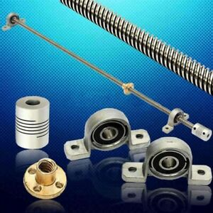 Coupling Lead screw kits Trapezoidal Bearing Mount Parts Rod New Durable