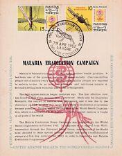 Pakistan Fdc 1962 Fight Against Malaria Eradication