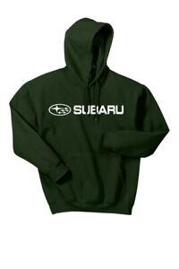Subaru Logo Green Basic Pullover Forester Impreza WRX STI Hoodie NEW SWEATSHIRT