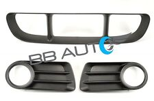 NEW 3 PC FRONT BUMPER CENTER GRILLE FOG LIGHT BEZELS 2002-2005 FORD EXPLORER