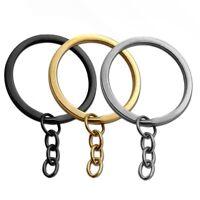 Schlüsselring Schlüssel Anhänger Keyring Silbern Golden Schwarz Set 1-25 Stück
