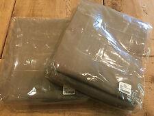 """2 panels RH Restoration Hardware SUNBRELLA outdoor drapery GREY 84"""" Rod Pocket"""