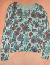 Women's Floral Rose Cute Pullover Sweater Small
