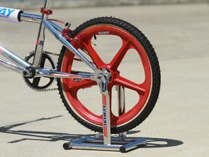 Skyway Chrome BMX Retro Collectors Stand- Old School Skyway Stolz BMX Race Stand