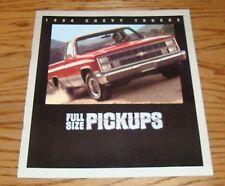 Original 1984 Chevrolet Truck Full-Size Pickup Sales Brochure 84 Chevy