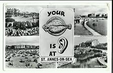 Your Plaice is Ear at St Anne's on Sea Multiview, Lytham St Anne's PMK 1956, RP