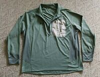 EUC Under Armour Men's Loose Fit Long Sleeve Athletic Shirt Color Green Size XL