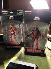 "Marvel Legends Deadpool (red) 6"" figure, 2018 and Lady Deadpool No BAF Piece new"