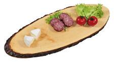 Rinden-Servierbrett Holz-Servierplatte Servier-Platte Holzplatte Buffet-Brett