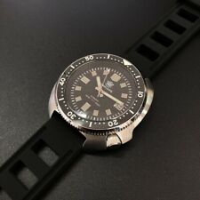 UK STEELDIVE SD1970 200M Automatic Turtle Diver Watch NH35  *SILICONE STRAP*