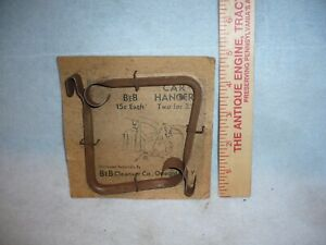 vintage BeB Cleanser company two car hangers interior clothes two for 25 cents