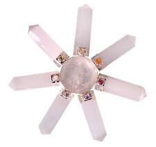 Selenite Stone 7 Point Cone Chakra Energy Generator Gift Spiritual Reiki Crystal