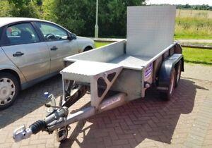 Ifor Williams Mini Digger PLANT TRAILER twin Axle Aluminium Chequer Floor No VAT