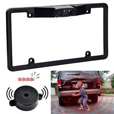 Car Backup Camera License Plate Radar Detector Sensor Video Parking Frame Mount