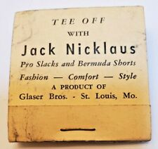 New listing Vintage Jack Nicklaus Wood Golf Tees Clothing Matchbook Style Promo with 4 Tees