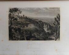 ITALIA.TIVOLI, CASCADE . GRABADO ORIGINAL DE HAKEWILL, 1820