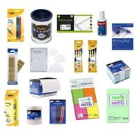 OFFICE STATIONARY BUNDLE Pen Pencil School Home Notes Tape Paper Label Bic Helix