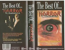THE BEST OF ALL TIME HORROR CLASSICS  CHRISTOPHER LEE AS NEW RARE PAL VHS VIDEO