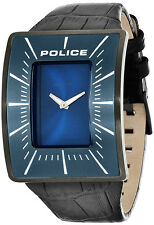 Police PL.14004JSU_03 Vantage Blue Dial Black Leather Strap Men's Watch