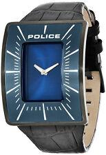 Police PL.14004JSU_03 Vantage Blue Dial Black Leather Strap Men's Watch