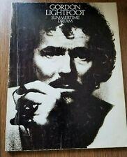 Gordon Lightfoot Summertime Dream sheet song book Moose Music