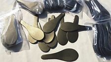 10 LEATHER BRONZE KEY RING / FOB LUGGAGE TAB BLANKS IN SPOON DESIGN + 10 RINGS}