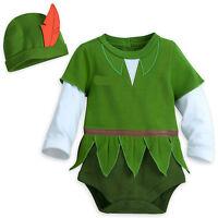 Disney Tienda Oficial Peter Pan Bebé Disfraz Body & Gorro Conjunto