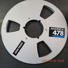 "Ampex 456 478 Metal Aluminum Take Up Reel & Master No tape box  1/4"" 10.5"" 10"