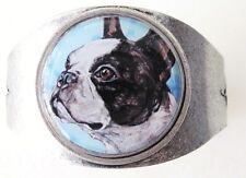 Boston Terrier Original Art Cuff Bracelet