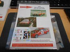 DECAL Decalsatz für Umbau Rallye Alfa GTV TdC 1975 Andruet R Miniature 1:43