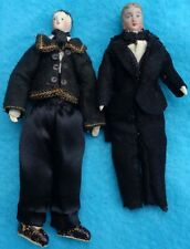 Vintage  Dollhouse  Man with Sideburns Young Man  Artist Dolls Well Done Cloth