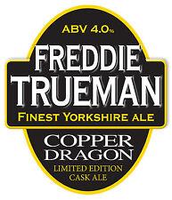 Framed Print - Real Ale Pump Clip Freddie Trueman Copper Dragon (Picture CAMRA)